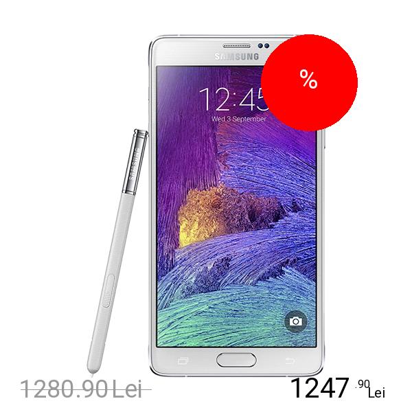 Samsung Galaxy Note 4 Dual Sim 16GB LTE 4G Alb 3GB RAM