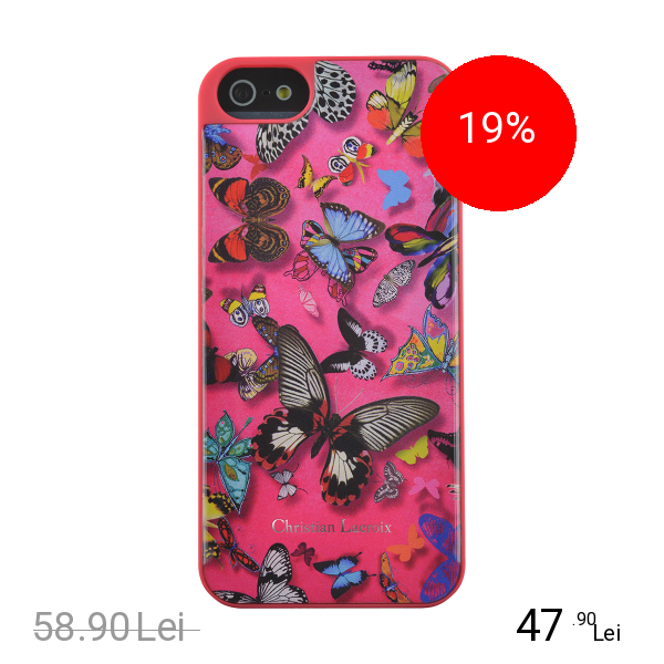 CHRISTIAN LACROIX Husa Capac Spate Butterefly Parade Roz APPLE iPhone 6, iPhone 6S