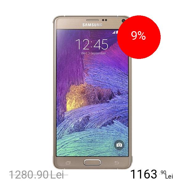 Samsung Galaxy Note 4 Dual Sim 16GB LTE 4G Auriu 3GB RAM