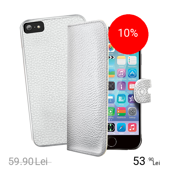 Celly Husa Agenda Ambo+ Capac Spate Alb APPLE iPhone 6, iPhone 6S