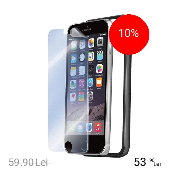 Celly Husa Bumper +Folie Transparenta Negru APPLE iPhone 6 Plus, iPhone 6s Plus