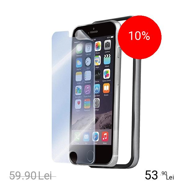 Celly Husa Bumper +Folie Transparenta Argintiu APPLE iPhone 6 Plus, iPhone 6s Plus