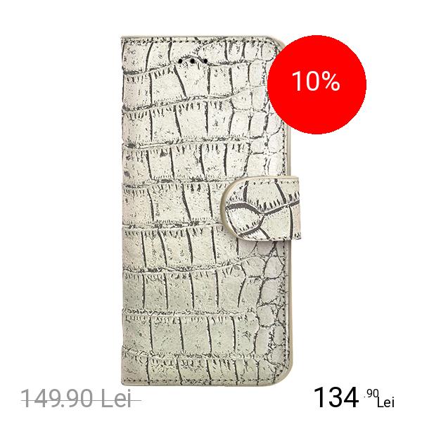 Celly Husa Agenda Crocodile Wally Auriu APPLE iPhone 6 Plus, iPhone 6s Plus