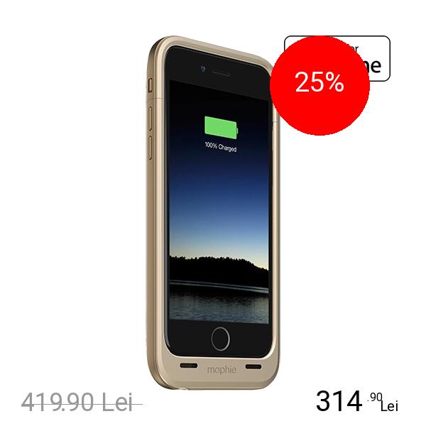 Mophie Baterie Externa + Husa 3300 mAh Juice Pack Plus APPLE iPhone 6, iPhone 6S