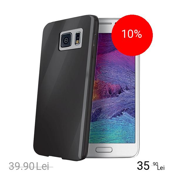 Celly Husa Capac spate Negru SAMSUNG Galaxy S6