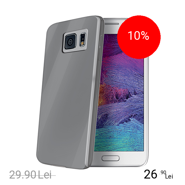 Celly Husa Capac spate Ultrasubtire Gri SAMSUNG Galaxy S6