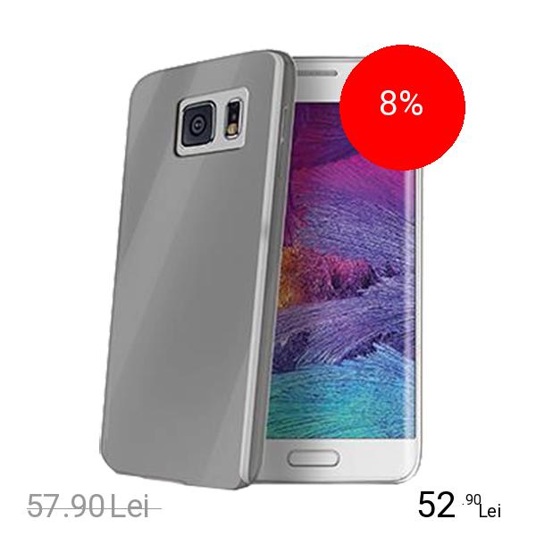 Celly Husa Capac spate Ultrasubtire Gri SAMSUNG Galaxy S6 Edge