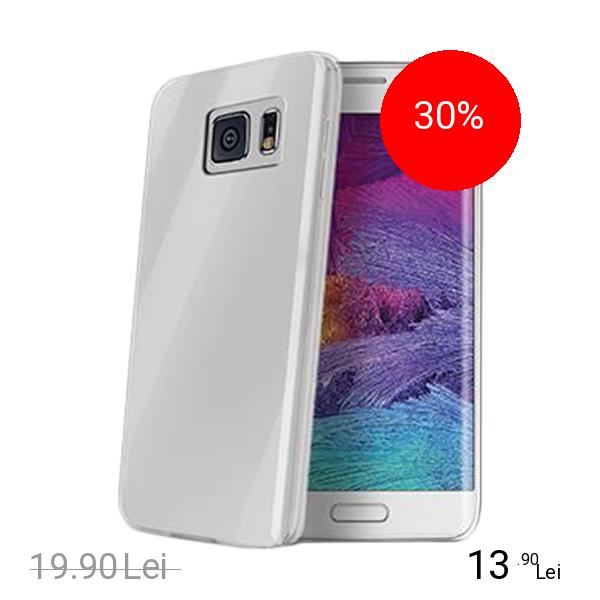 Celly Husa Capac spate Transparent SAMSUNG Galaxy S6 Edge