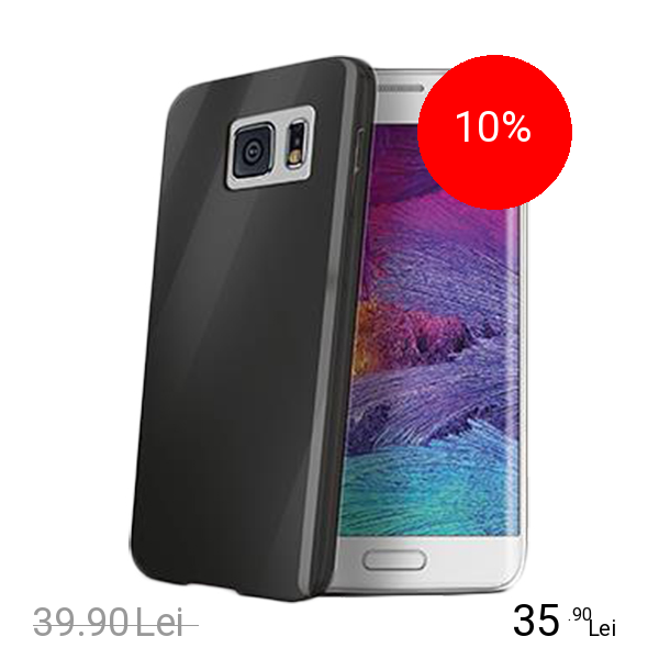 Celly Husa Capac spate Negru SAMSUNG Galaxy S6 Edge
