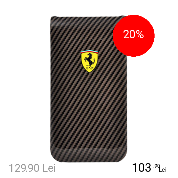 Ferrari Baterie Externa 5000 mAh Carbon Dual USB