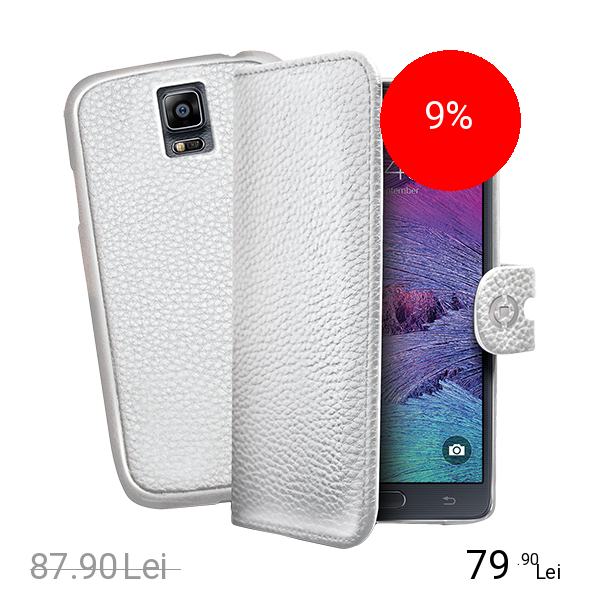 Celly Husa Agenda Ambo + Capac Detasabil Alb SAMSUNG Galaxy Note 4