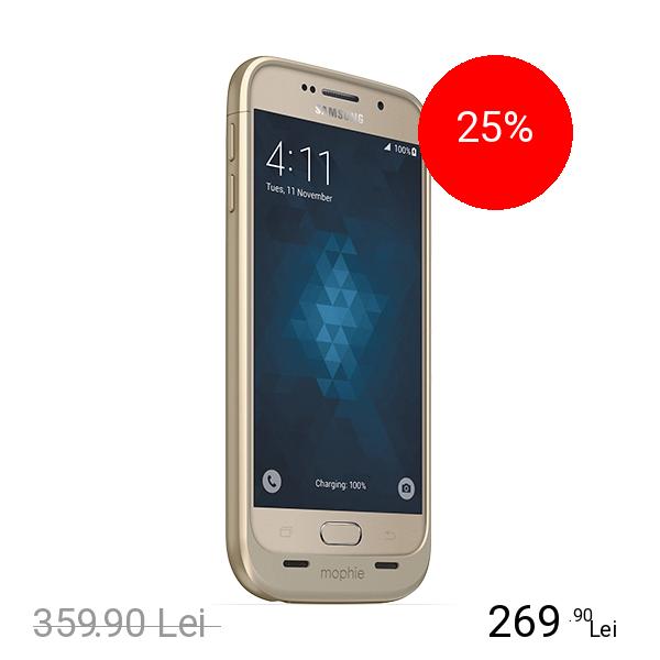 Mophie Baterie Externa + Husa Juice Pack 3300 mAh SAMSUNG Galaxy S6