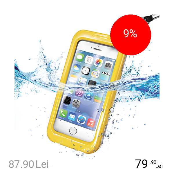 Celly Husa Rezistenta La Apa Husa Rezistenta La Apa CELLY Waterproof Galben APPLE iPhone 5s, iPhone SE