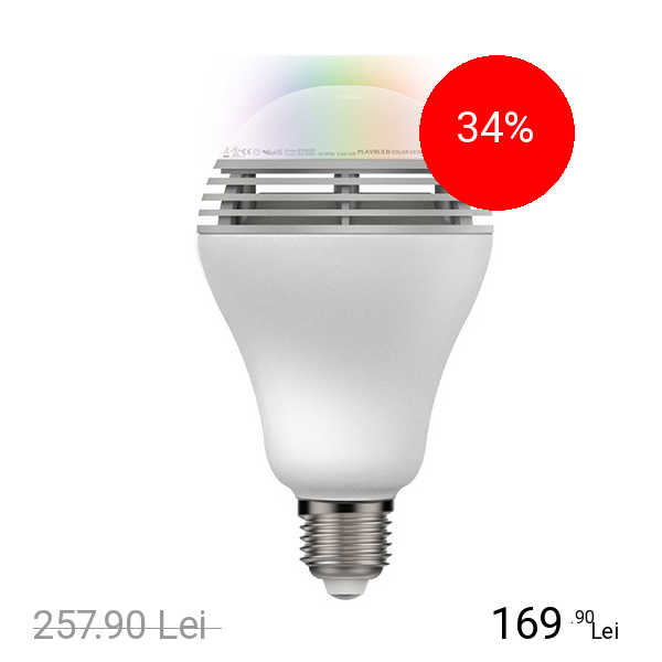 MIPOW BEC LED PLAYBULB COLOUR BLUETOOTH CU DIFUZOR( 78426)