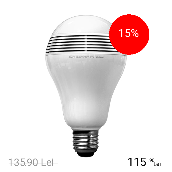 MIPOW BEC LED PLAYBULB LIGHT APP ENABLED CU DIFUZOR