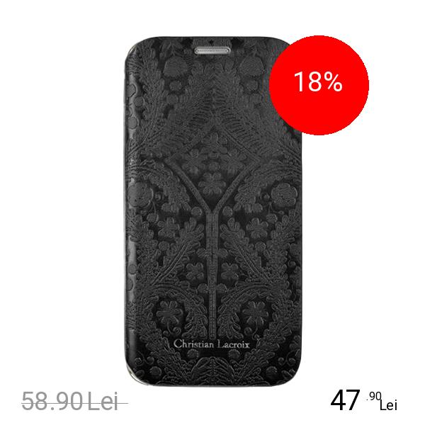 CHRISTIAN LACROIX Husa Agenda Paseo Negru SAMSUNG Galaxy S6
