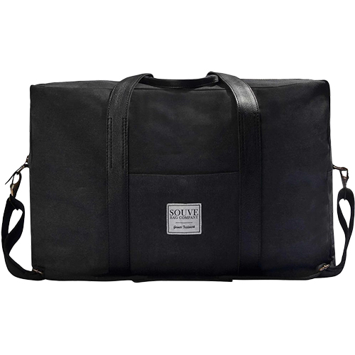 SOUVE Canvas Travel Bag Negru