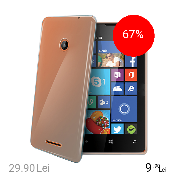 Celly Husa Capac spate Transparent Microsoft Lumia 435