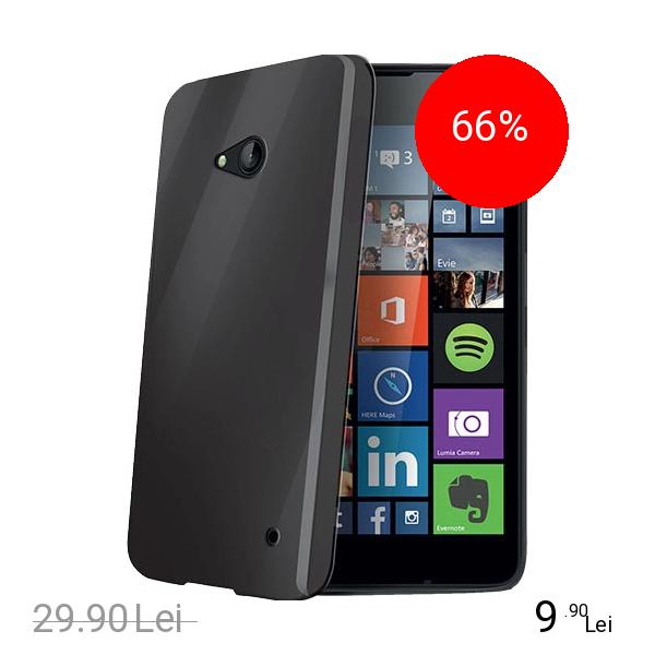 Celly Husa Capac spate Negru Microsoft Lumia 640