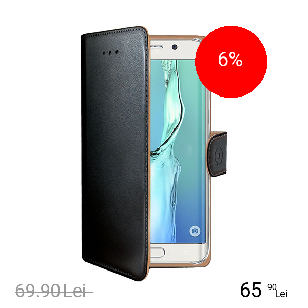 Celly Husa Agenda Negru SAMSUNG Galaxy S6 Edge Plus