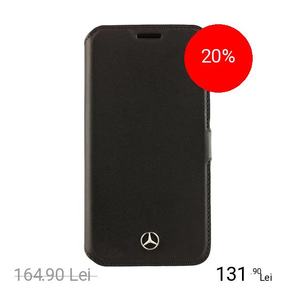 MERCEDES Husa Agenda Pure Line Negru SAMSUNG Galaxy S6
