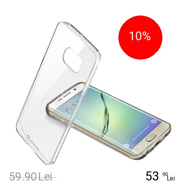 Cellularline Husa Capac spate BI-COMPONENT Transparent SAMSUNG Galaxy S6 Edge Plus