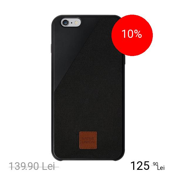 NATIVE UNION Husa Capac spate CLIC 360 Negru APPLE iPhone 6 Plus, iPhone 6s Plus