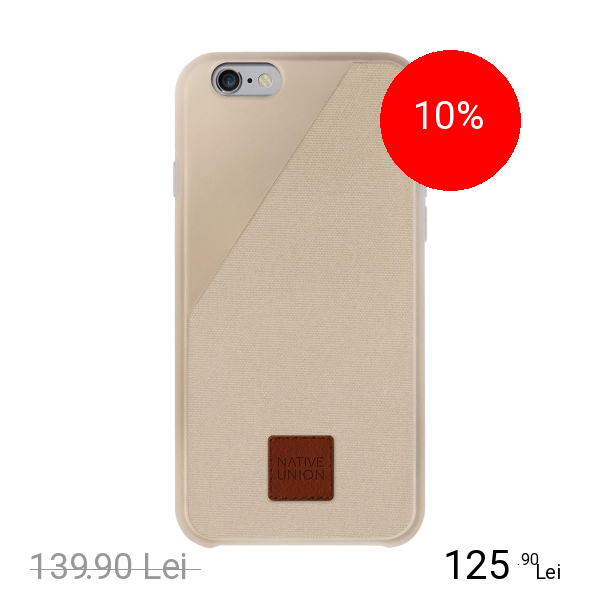NATIVE UNION Husa Capac spate CLIC 360 Auriu APPLE iPhone 6 Plus, iPhone 6s Plus