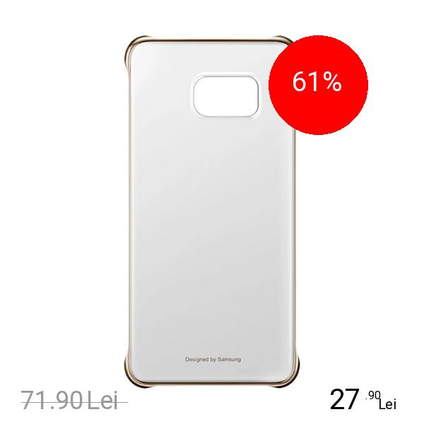 Samsung Husa Capac spate Clear Auriu SAMSUNG Galaxy S6 Edge Plus