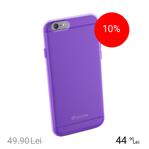 Cellularline Husa Capac spate COLORSLIPH647V Violet APPLE iPhone 6, iPhone 6S