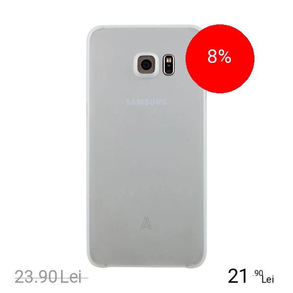 Anymode Husa Capac spate ANYMODE Alb FA00019KBL SLIM SKIN 0.4 SAMSUNG Galaxy S6 Edge Plus