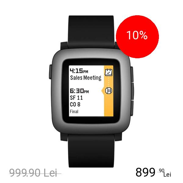 PEBBLE Smartwatch Time Negru