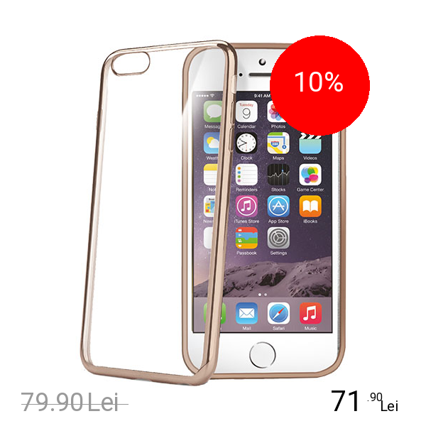 Celly Husa Capac spate Laser Auriu APPLE iPhone 6 Plus, iPhone 6s Plus