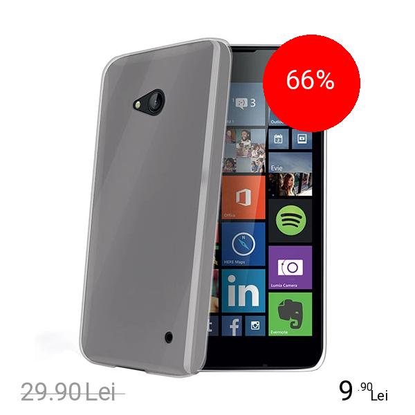 Celly Husa Capac spate Transparent Microsoft Lumia 640