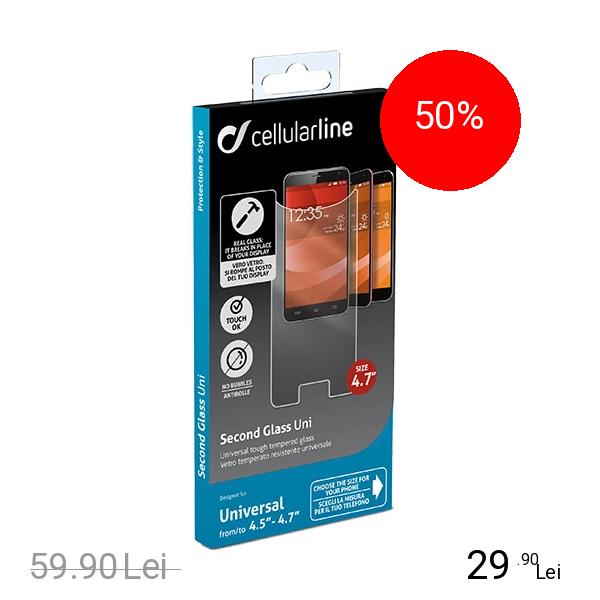 Cellularline Sticla Securizata Universala 4.5