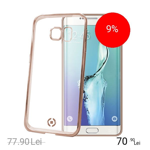 Celly Husa Bumper Laser Cover Auriu SAMSUNG Galaxy S6 Edge