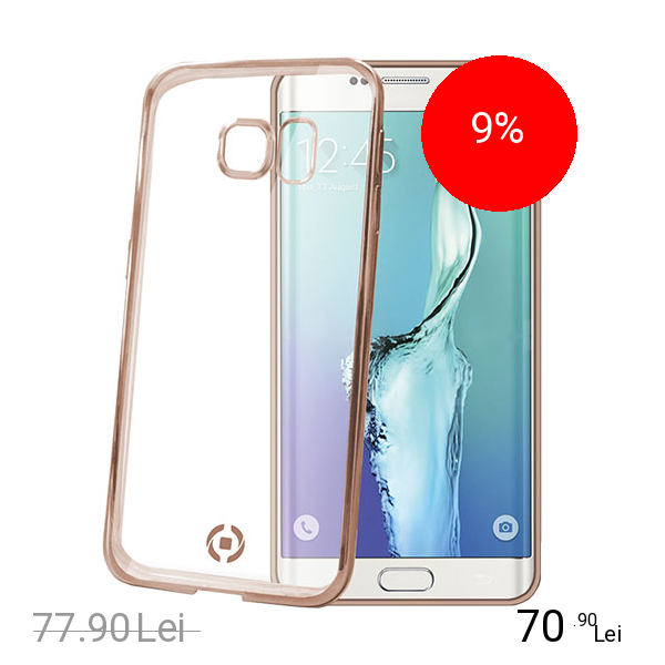 Celly Husa Bumper Laser Cover Auriu SAMSUNG Galaxy S6 Edge Plus