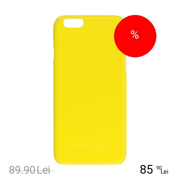 HAPPY PLUGS Husa Capac spate Ultrasubtire Galben APPLE iPhone 6, iPhone 6S