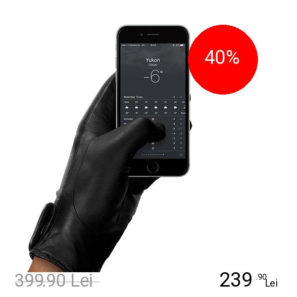 MUJJO Manusi Touchscreen Piele Marimea L
