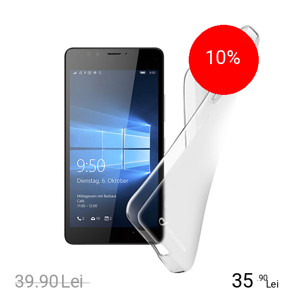 Cellularline Husa Capac spate Transparent MICROSOFT Lumia 950