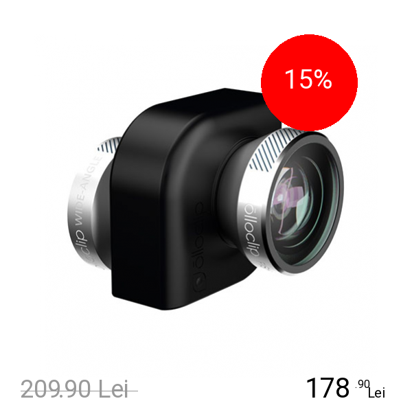 OLLOCLIP Kit Lentile Macro x10 Si x15, Fisheye, Wide-Angle Ipad Mini/Ipad Air