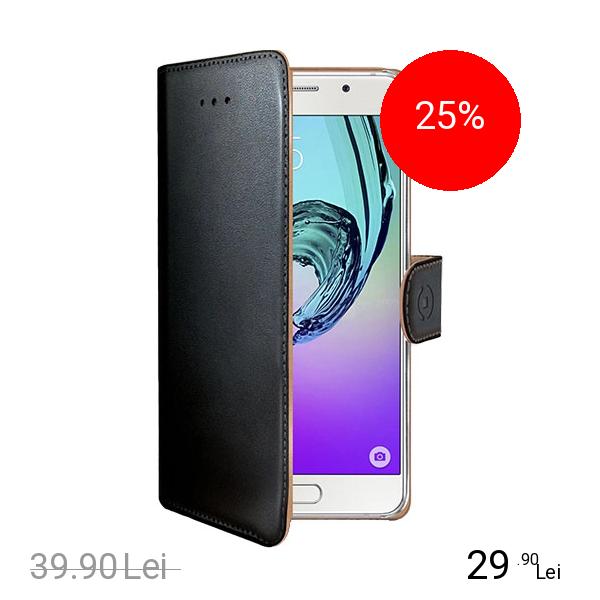 Celly Husa Agenda Negru Samsung Galaxy A3 2016