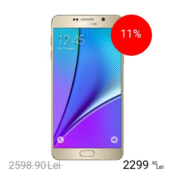 Samsung Galaxy Note 5 Dual Sim 32GB LTE 4G Auriu 4GB RAM
