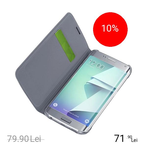 Cellularline Husa Agenda Negru Samsung Galaxy S7 Edge