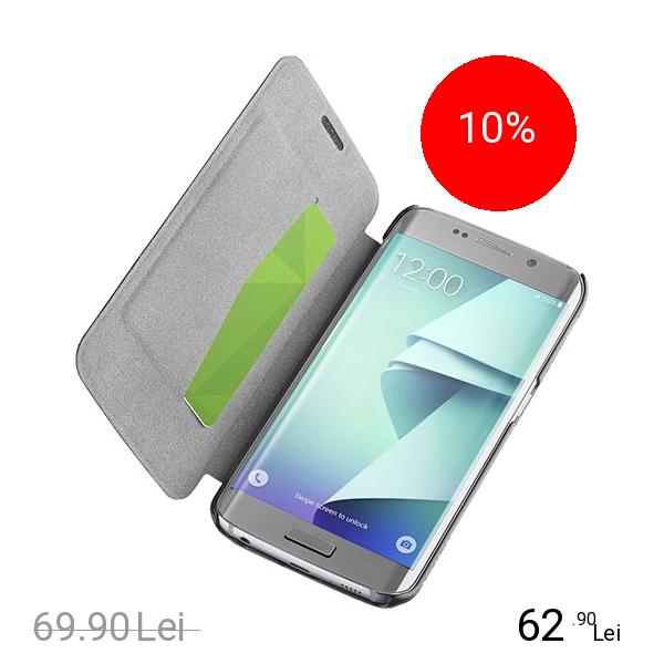 Cellularline Husa Agenda Essential Negru Samsung Galaxy S7 Edge