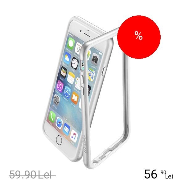 Cellularline Husa Bumper Satin Argintiu APPLE iPhone 6, iPhone 6S
