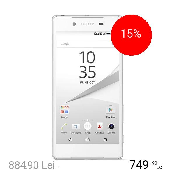 Sony Xperia Z5 Dual Sim 32GB LTE 4G Alb 3GB RAM