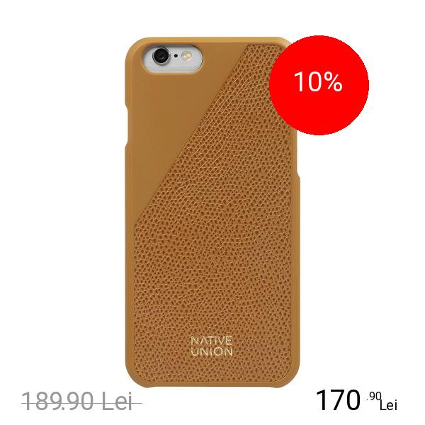 NATIVE UNION Husa Capac Spate Clic Piele Portocaliu APPLE iPhone 6, iPhone 6S
