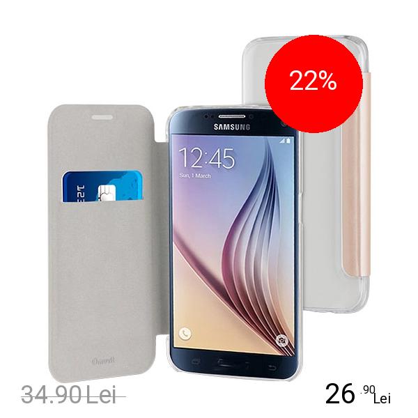Muvit Husa Agenda Folio Auriu Samsung Galaxy S7
