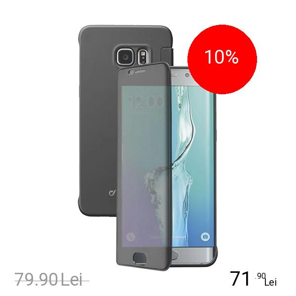 Cellularline Husa Agenda Book Touch Negru SAMSUNG Galaxy S6 Edge Plus